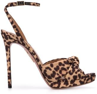 Aquazzura leopard print sandals