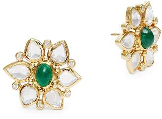 Temple St. Clair Women's 18K Yellow Gold Ottoman Stud Earrings