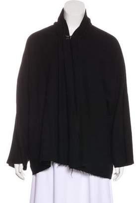 Lanvin Wool & Linen-Blend Cardigan