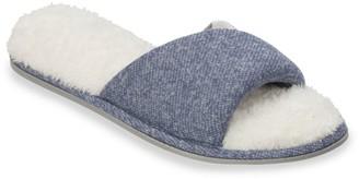 Dearfoams Women's Knit Twist Slide Slippers