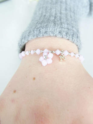 Tallulahs Trinkets Pastel Floral Bridesmaid Bracelet