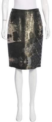 Hermes Silk Metallic Skirt