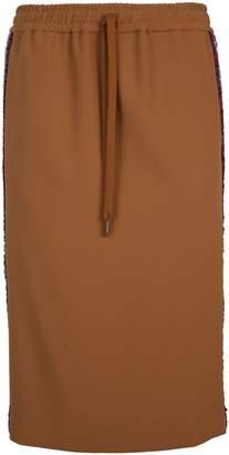 N°21 N.21 Crepe Crady Stretch Skirt