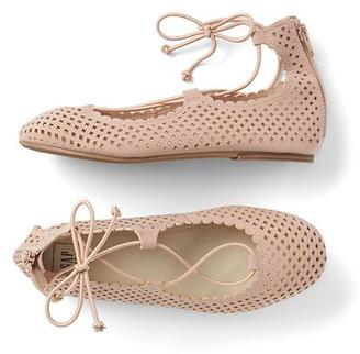 Lace-up ballet flats $34.95 thestylecure.com
