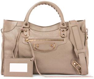 Balenciaga Classic Metallic Edge City Bag $2,125 thestylecure.com