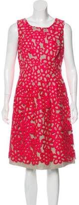 Lela Rose Embroidered Mini Dress