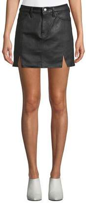 Current/Elliott The Leather Mini Five-Pocket Skirt