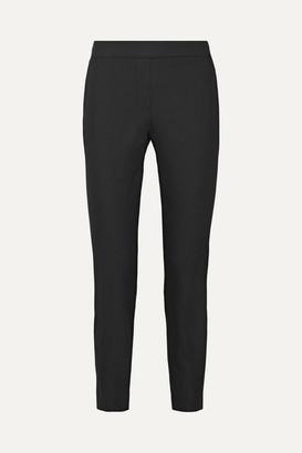 Theory Thaniel Cropped Stretch Cotton-blend Twill Slim-leg Pants - Black