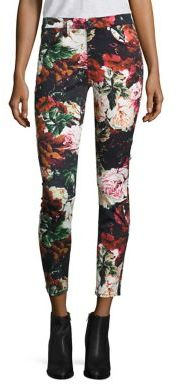 7 For All Mankind Floral Print Ankle Jeans $199 thestylecure.com
