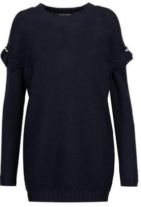 Mother of Pearl Freda Embellished Wool-Blend Bouclé Sweater