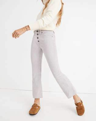 Madewell Petite Cali Demi-Boot Jeans: Corduroy Edition