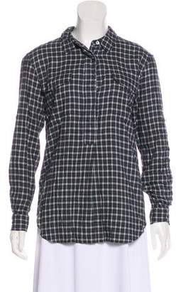 Closed Long Sleeve Button-Up Blouse w/ Tags