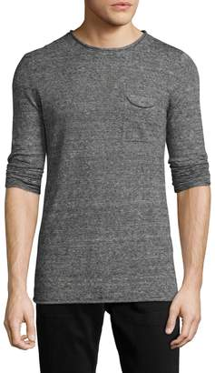 Antony Morato Men's Solid Pocket Sweater