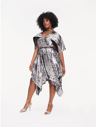 Tommy Hilfiger Zendaya Curve Metallic Silk Blend Dress