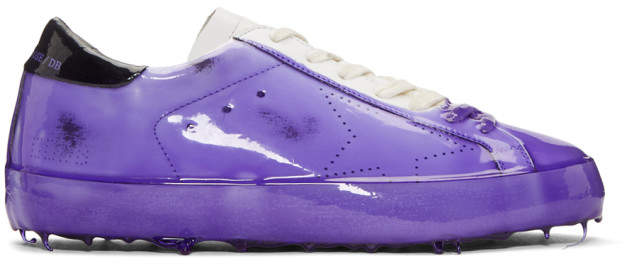 Golden Goose Purple Skate Dip Superstar Sneakers