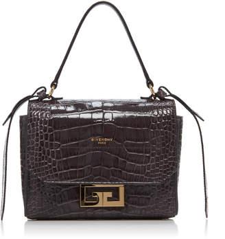 Givenchy Eden Mini Croc-Embossed Leather Shoulder Bag