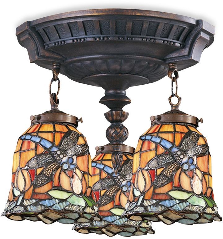 Bed Bath & Beyond ELK Lighting Mix-N-Match Collection 3-Light Semi-Flush Pendant in Dragonfly
