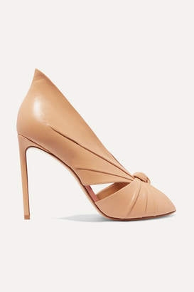Francesco Russo Knotted Leather Pumps - Neutral