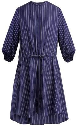 Maison Rabih Kayrouz Striped Cotton Poplin Shirtdress - Womens - Blue