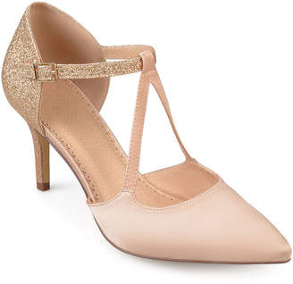 Journee Collection Womens Elodie Pumps Buckle Pointed Toe Stiletto Heel