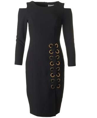 Bourne Cold Shoulder Lace Up Detail Dress
