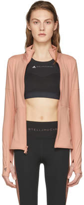 adidas by Stella McCartney Pink Essentials Midlayer Zip-Up Jacket