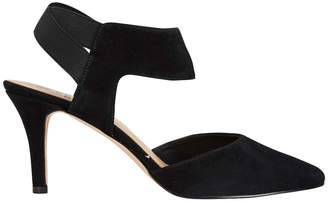Capture Black Suede /Elastic Pump