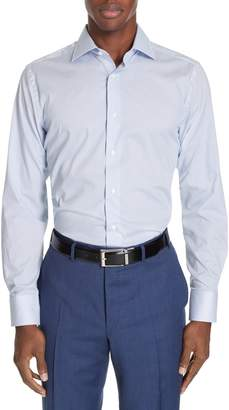 Canali Regular Fit Stretch Dot Dress Shirt