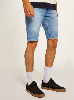Topman ANTIOCH Indigo Rigid Denim Slim Shorts*