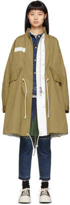 Sacai Beige Oxford Coat