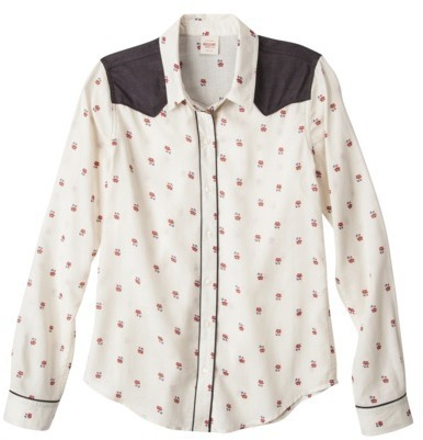Mossimo Juniors Button Down Floral Shirt - Assorted Colors