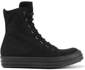 Rick Owens Canvas High-Top Sneakers