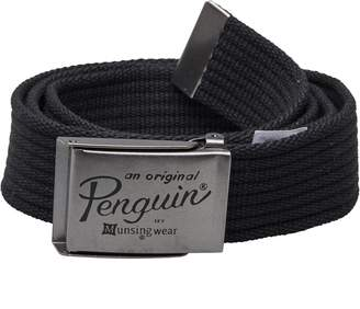 Original Penguin Mens Webbing Belt Black