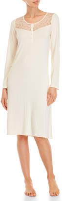 La Perla Lace Henley Long Sleeve Night Dress