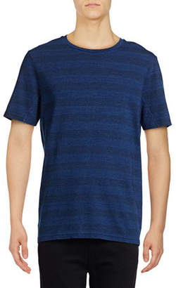 Michael Bastian Striped Crew Neck T-Shirt