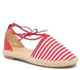 Jacobies of Beverly Hills Carson Striped Espadrille Flat