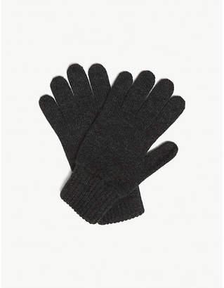 Johnstons Plain cashmere gloves