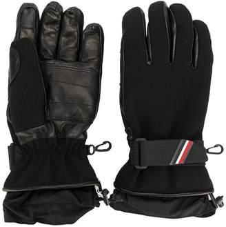 Moncler panelled ski gloves