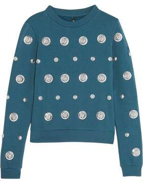 Versace Studded Cotton-Jersey Sweatshirt