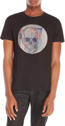 Heads Or Tails Skull Studded Tee