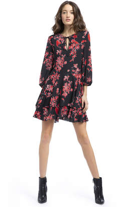 Alice + Olivia MOORE FLORAL TUNIC DRESS