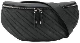 Pinko diagonal stripe bum bag