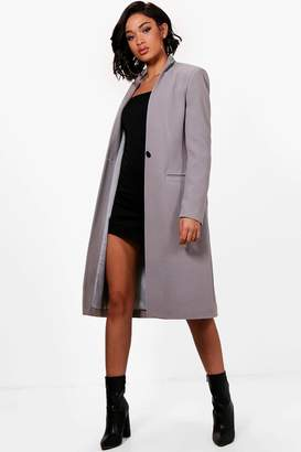 boohoo Maya Tailored Wool Look Coat