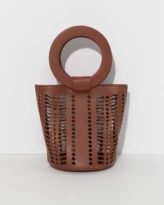 Modern Weaving Terra Mini Jute Circle Handle Bucket