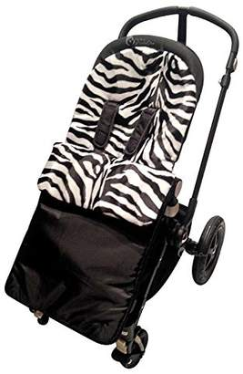 UPPAbaby Animal Print Padded Footmuff/Cosy Toes Compatible with Vista/Cruz/G-Luxe Zebra