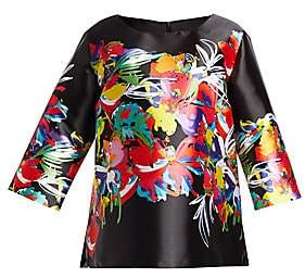 Caroline Rose Caroline Rose, Plus Size Women's Tropical Punch Tunic Top