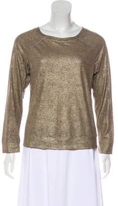 Current/Elliott Long Sleeve Metallic T-Shirt
