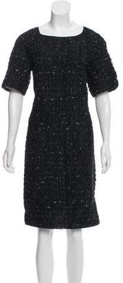 Dries Van Noten Textured Knee-Length Dress
