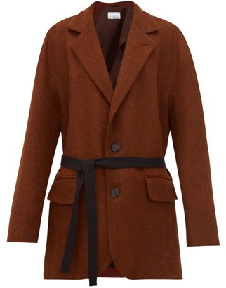 Raey Oversized Single Breasted Wool Harris Tweed Blazer - Womens - Bronze