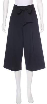 Veronica Beard High-Rise Cropped Culottes